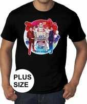 Grote maat officieel toppers concert 2019 t-shirt zwart heren