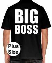 Grote maten big boss polo shirt zwart heren