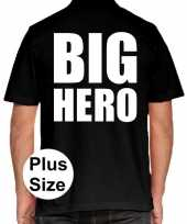 Grote maten big hero polo shirt zwart heren
