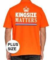 Grote maten kingsize matters poloshirt oranje heren