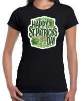 Happy st patricks day st patricks day t-shirt kostuum zwart dames