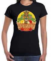 Hawaii feest t-shirt shirt tiki bar aloha zwart dames