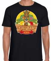 Hawaii feest t-shirt shirt tiki bar aloha zwart heren