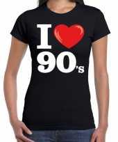 I love shirts dames zwart 90s bedrukking