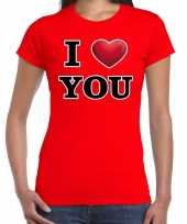 I love you valentijn t-shirt rood dames