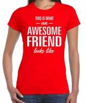 Kado bedankt-shirt awesome friend dames 10200216