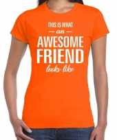 Kado bedankt-shirt awesome friend dames 10200218