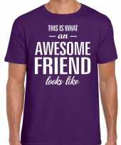 Kado bedankt-shirt awesome friend heren 10199921