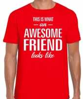 Kado bedankt-shirt awesome friend heren 10199922