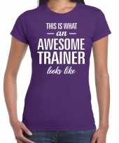 Kado bedankt-shirt awesome trainer dames 10200251