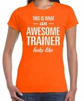 Kado bedankt-shirt awesome trainer dames 10200258