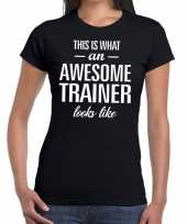 Kado bedankt-shirt awesome trainer dames
