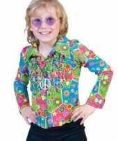 Kinder hippie shirt bloemen