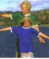 Kinder t shirt contrast