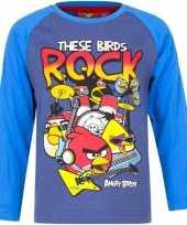Kindershirt angry birds blauw