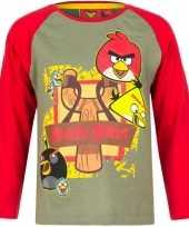 Kindershirt angry birds groen rood