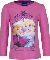 Kindershirt anna elsa roze