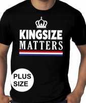 Koningsdag kingsize matters grote maten shirt zwart heren