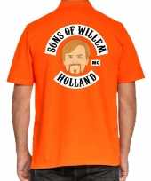 Koningsdag poloshirt sons of willem holland oranje heren