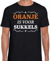 Koningsdag shirts zwart oranje is sukkels heren