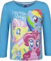 Lange mouwen shirt blauw my little pony