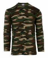 Lange mouwen shirt camouflage