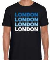 London londen t-shirt zwart heren