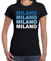 Milano milaan t-shirt zwart dames