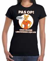 Nederland supporter t-shirt leeuwinnen zijn los zwart dames