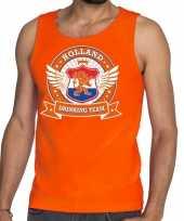 Oranje holland drinking team rwb tankop mouwloos shirt heren