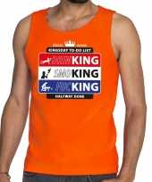 Oranje kingsday to do list tanktop mouwloos shirt heren