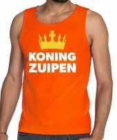 Oranje koning zuipen tanktop mouwloos shirt he