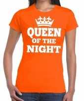 Oranje queen of the night-shirt dames