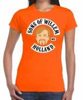 Oranje sons of willem t-shirt dames