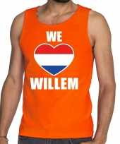 Oranje we love willem tanktop mouwloos shirt heren