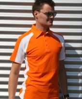 Polo shirts oranje heren lemon soda