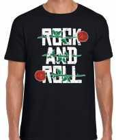 Rock and roll t-shirt zwart heren