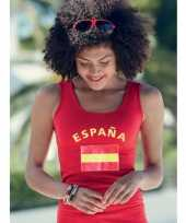 Rood dames shirtje spaanse vlag 10041538