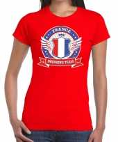 Rood france drinking team t-shirt dames
