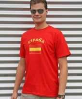 Rood heren shirtje spaanse vlag