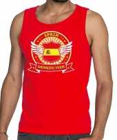 Rood spain drinking team tanktop mouwloos shirt heren