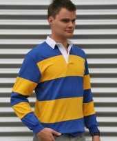Rugbyshirt blauw geel