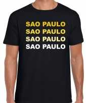 Sao paulo brazilie t-shirt zwart heren