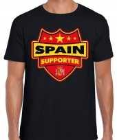 Spanje spain schild supporter t-shirt zwart heren