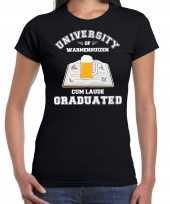 Studenten carnaval t-shirt zwart university of warmenhuizen dames