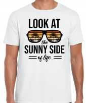Sunny side feest t-shirt shirt look at the sunny side of life wit heren