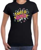 Super oma cadeau t-shirt zwart dames 10191349