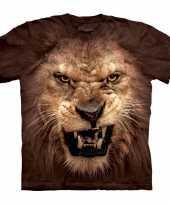 T shirt realistische leeuw