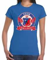 Toppers blauw kort pittig team t-shirt dames
