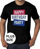 Toppers grote maten toppers happy birthday party heren t-shirt officieel 10137570